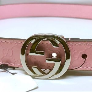 Gucci Accessories - ❌SOLD❌ Gucci Pink Girls Patent Leather Belt